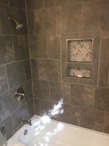 Bathtub and Shower Remodeled with Granite